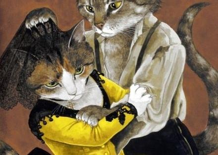 猫咪大玩复古风 英国艺术家油画作品
