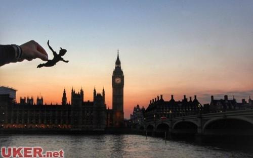 天了噜 迪斯尼剪纸带你游英国标志性建筑
