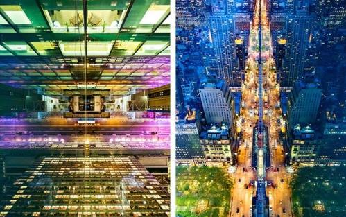 摄影师作品展现城市夜景和建筑的对称美(图)
