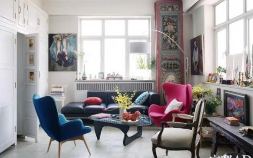 英国美女改造80平北京老房子 每面墙上都挂着艺术品