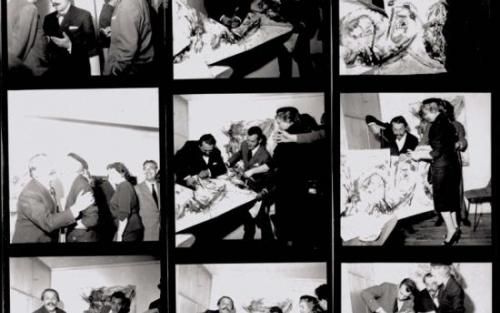 英国《水花四溅:行为先于绘画》展览作品1